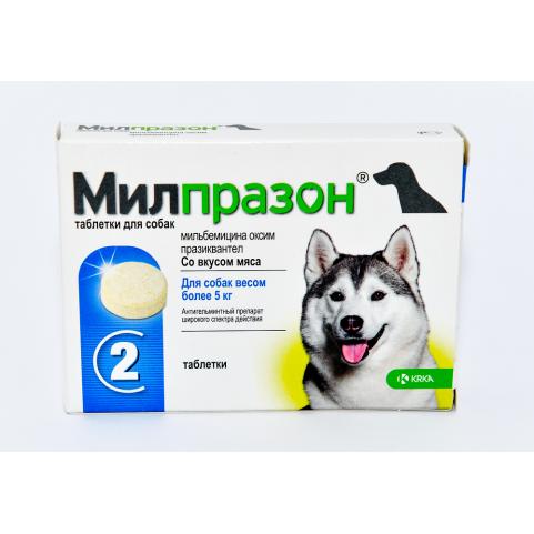 Милпразон 12,5 мг/ 125 мг таблетки от глистов для собак №2