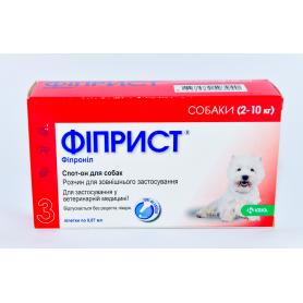 Фиприст 67 мг/0,67 мл для собак спот-он  №3 КРКА