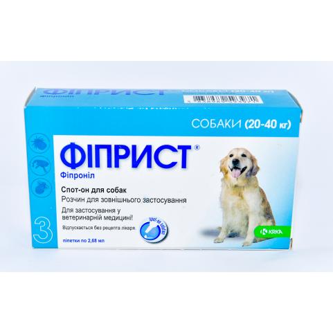 Фиприст 268мг/2,68 мл для собак спот-он  №3