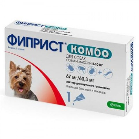 Фиприст Комбо 67 мг/60,3 мг для собак №1 КРКА