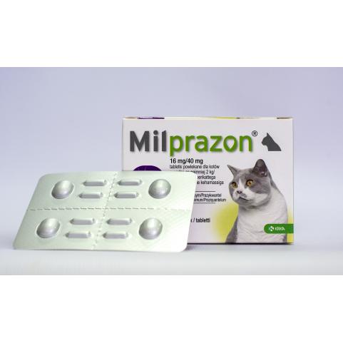 Милпразон 16 мг/40 мг таблетки для котов