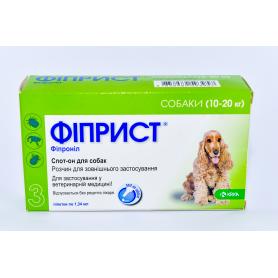Фиприст 134 мл/1,34 мл для собак спот-он  №3 КРКА