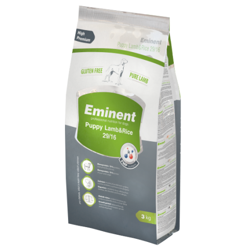Eminent Lamb / Rice безглютеновый корм для щенков, беременных и кормящих сук всех пород 3 кг
