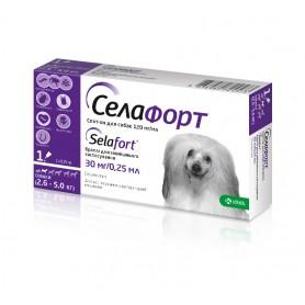 Селафорт 30 мг/0,25 мл спот-он для собак весом 2,6 - 5 кг КРКА