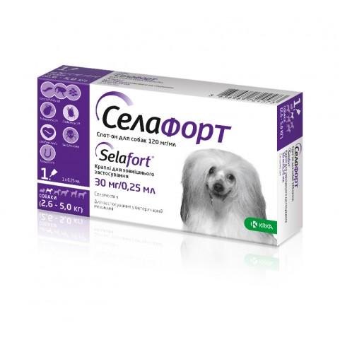 Селафорт 30 мг/0,25 мл краплі для собак вагою 2,6 - 5 кг