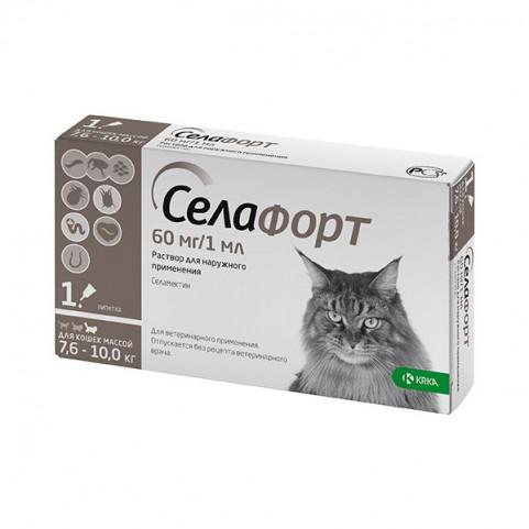 Селафорт капли для кошек 60 мг/1 мл весом 7,6 - 10 кг