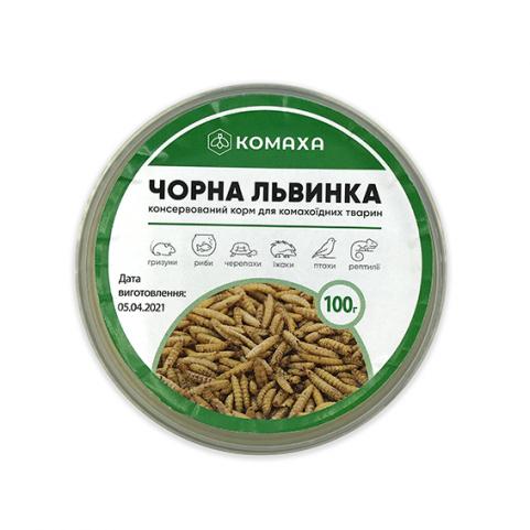 """Консервированный корм для насекомоядных животных  """"Черная львинка""""  100 гр"""